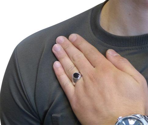 14 karaat wit gouden cachet ring