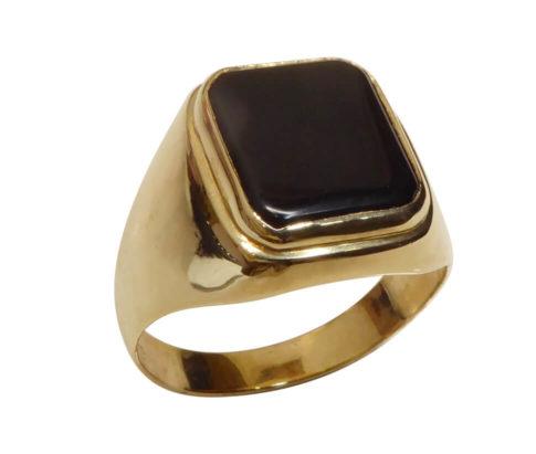 Christian geel gouden onyx ring