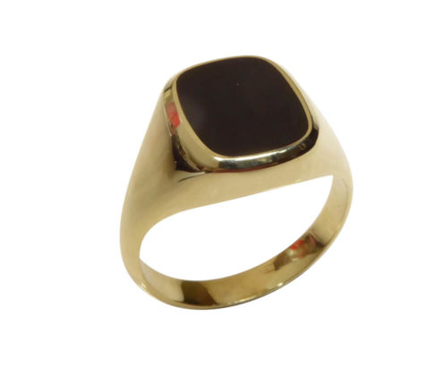 Christian gouden onyx ring