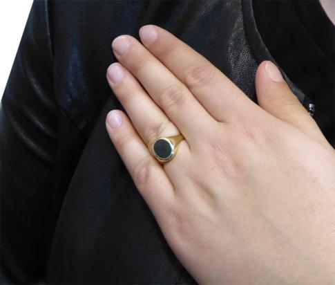 Gouden heliotroop cachet ring