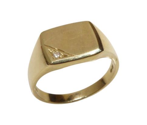 Gouden heren ring cachet model