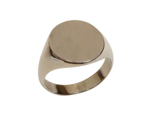 Wit gouden cachet ring