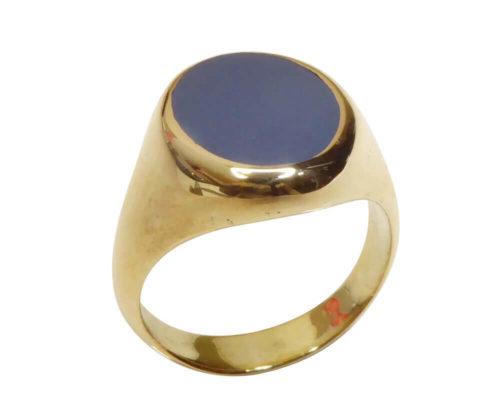Gouden Christian lagensteen cachet ring