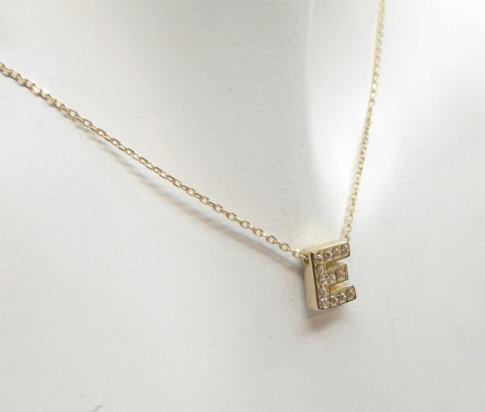 Gouden ketting met E zirkonia hanger