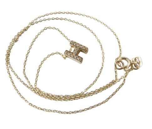 Gouden ketting met I zirkonia hanger