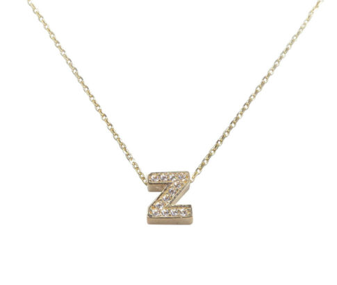 Gouden ketting met Z zirkonia hanger