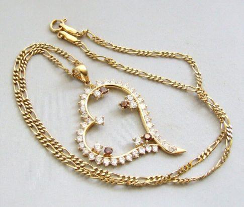 18 karaat gouden zirkonia hanger