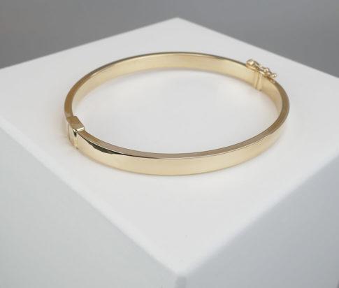 Geel gouden 14 karaat Christian armband
