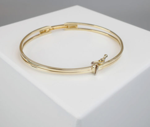 Gouden Christian scharnier armband