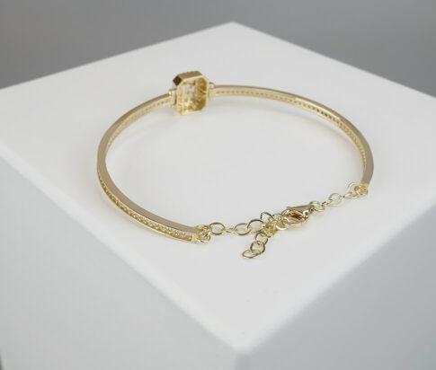 Gouden fantasie armband met zirkonia