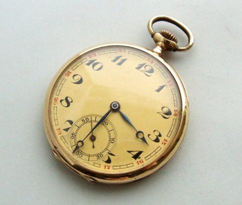 Gouden vintage zakhorloge