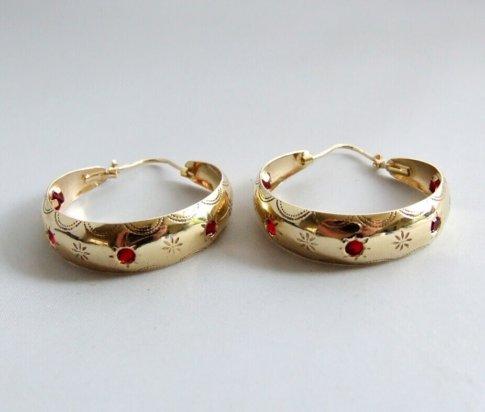 Geel gouden bloedkoraal oorbellen