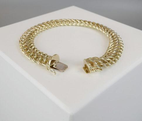 Geel gouden vintage armband