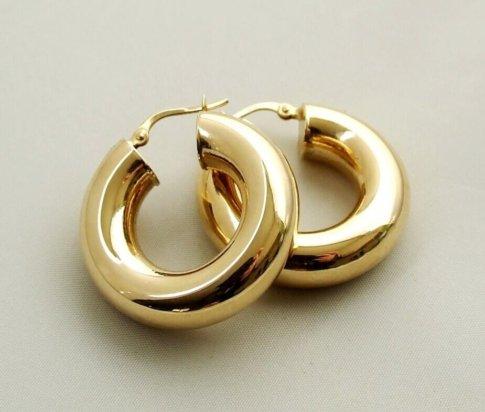 Geel goud oorbellen