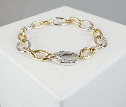 Gouden armband met briljanten slot