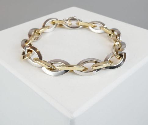 Wit en geel gouden armband