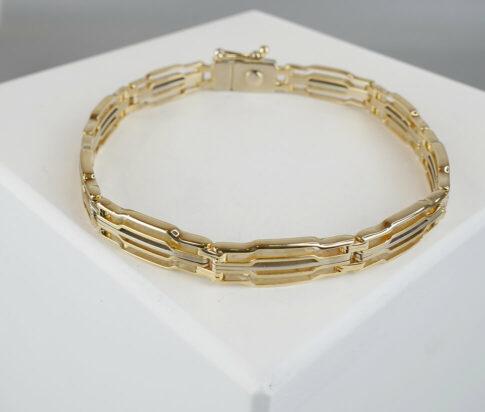 Christian heren armband geel goud
