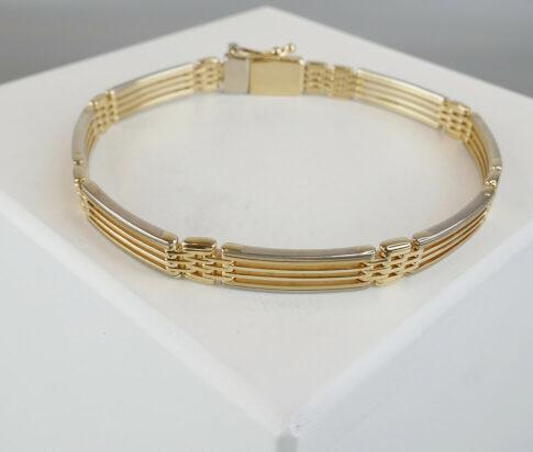 Bicolor goud Christian armband