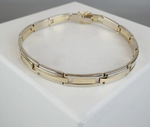 Christian goud bicolor armband