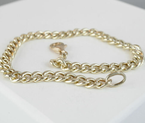Christian goud holle gourmette armband