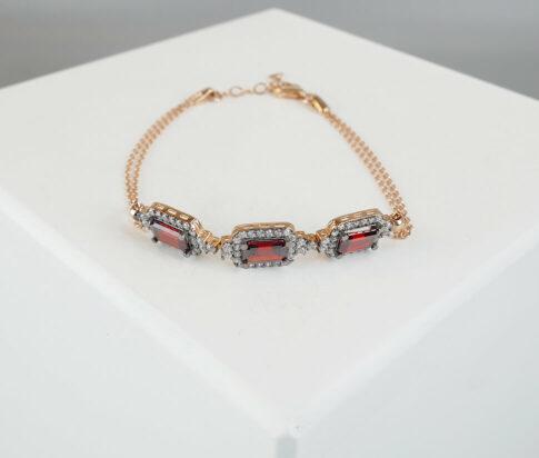 Christian synthetische robijn armband